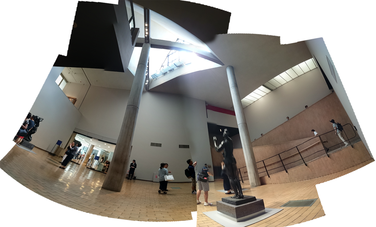 国立西洋美術館 展示室見上げ 合成