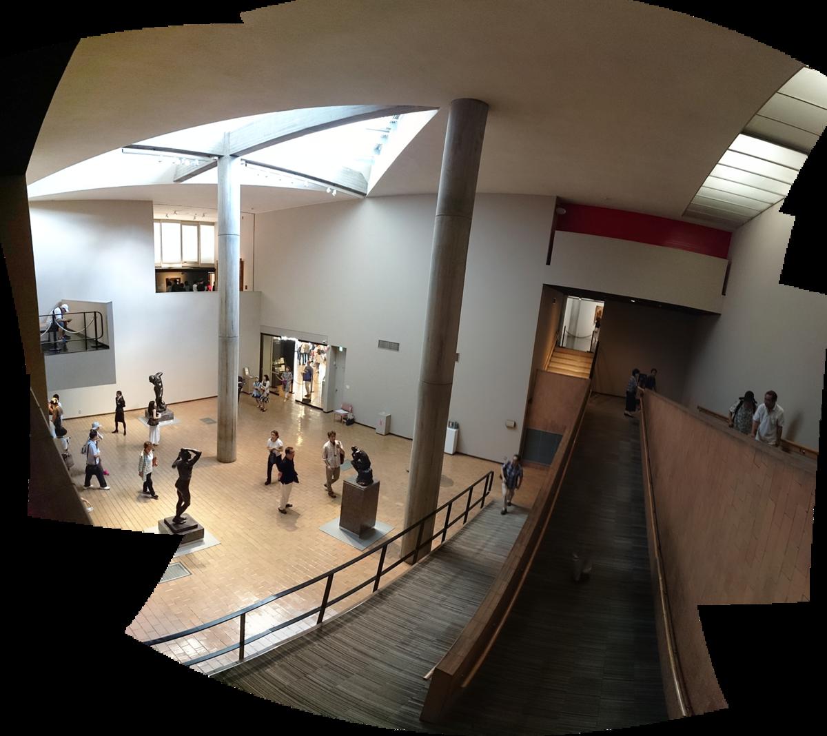 国立西洋美術館 展示室スロープ 合成