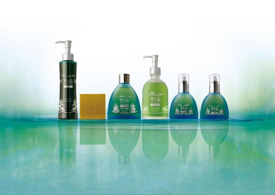 LineUp of Green tea Organic Cosmetics
