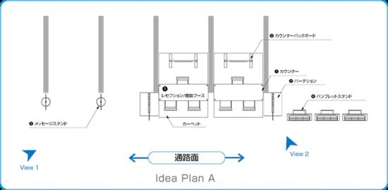 Presentation PlanA レイアウト図