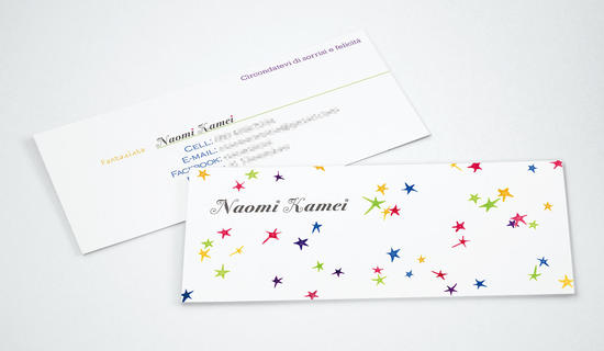 Multi color's stars image of BusinessCard